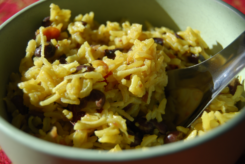 Coconut Basmati Rice with Black Beans | Active Vegetarian