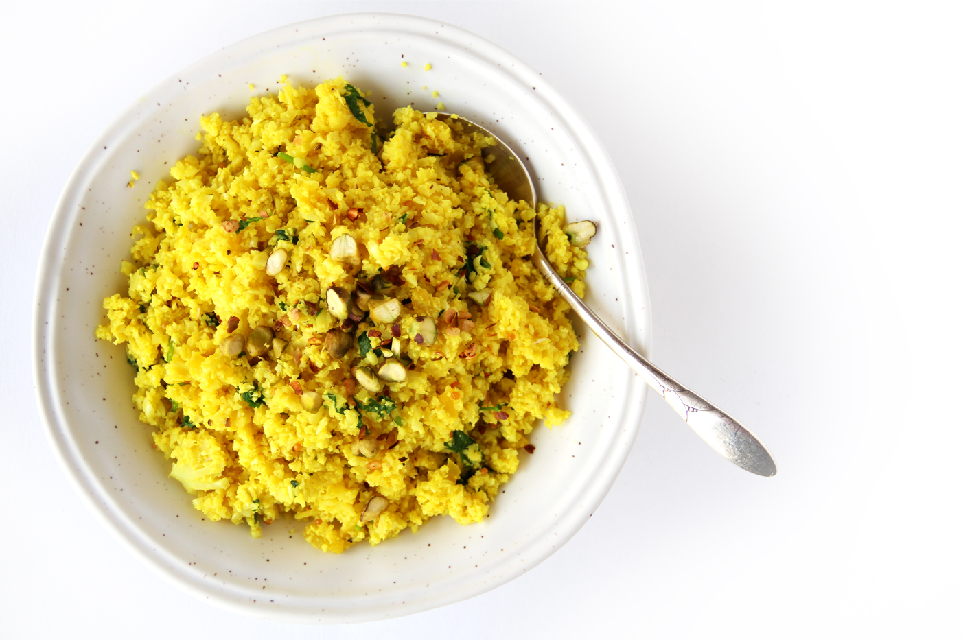 Vegan cauliflower Indian rice made by Active Vegetarian