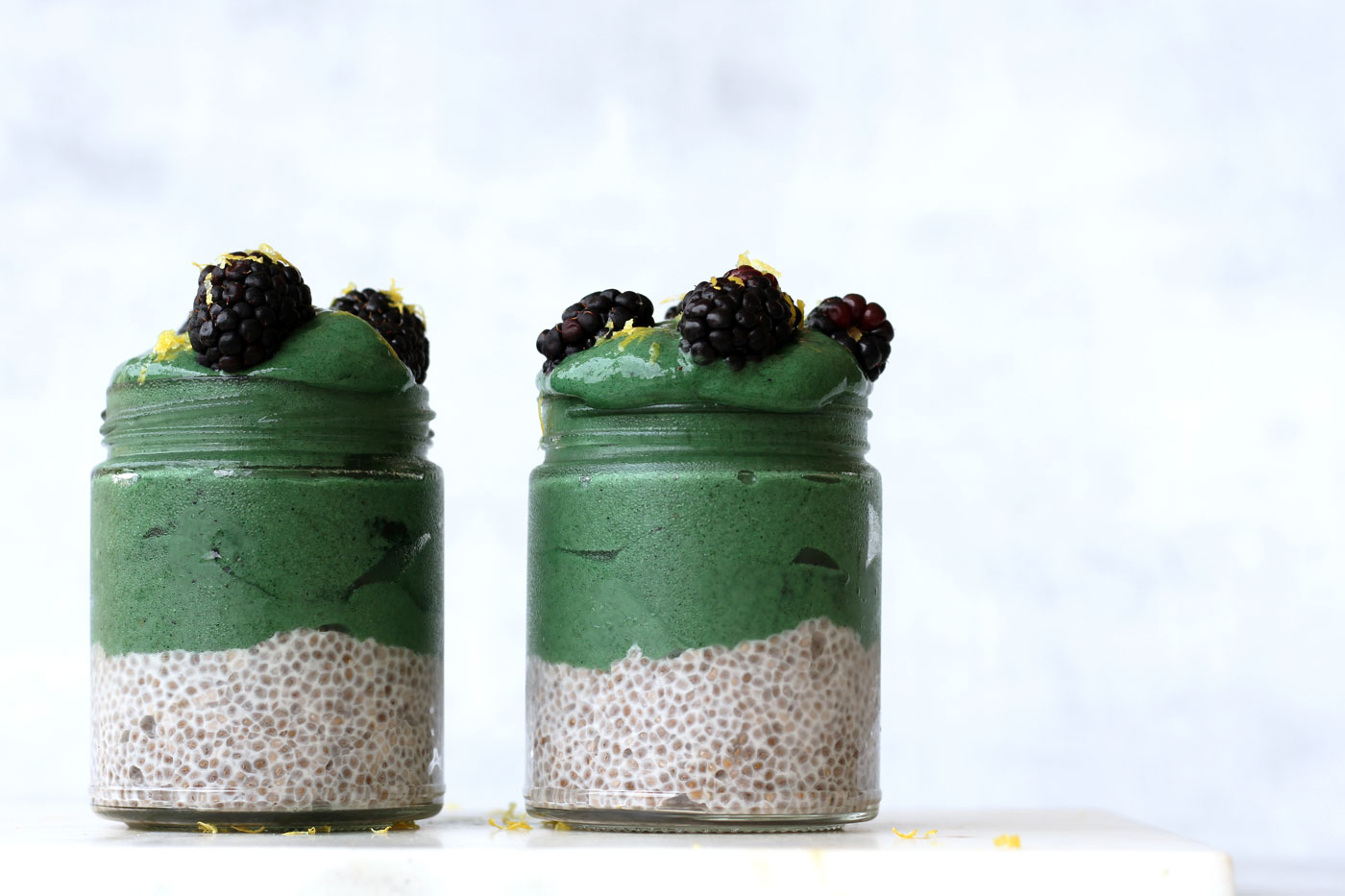 This is a superfood ice cream parfait recipe made by Active Vegetarian