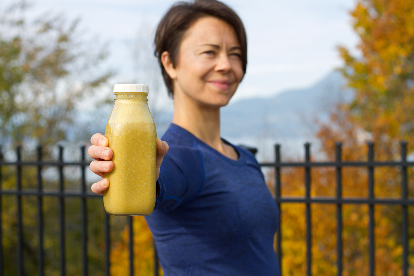 This is Zuzana enjoying her pumpkin muscle mylk