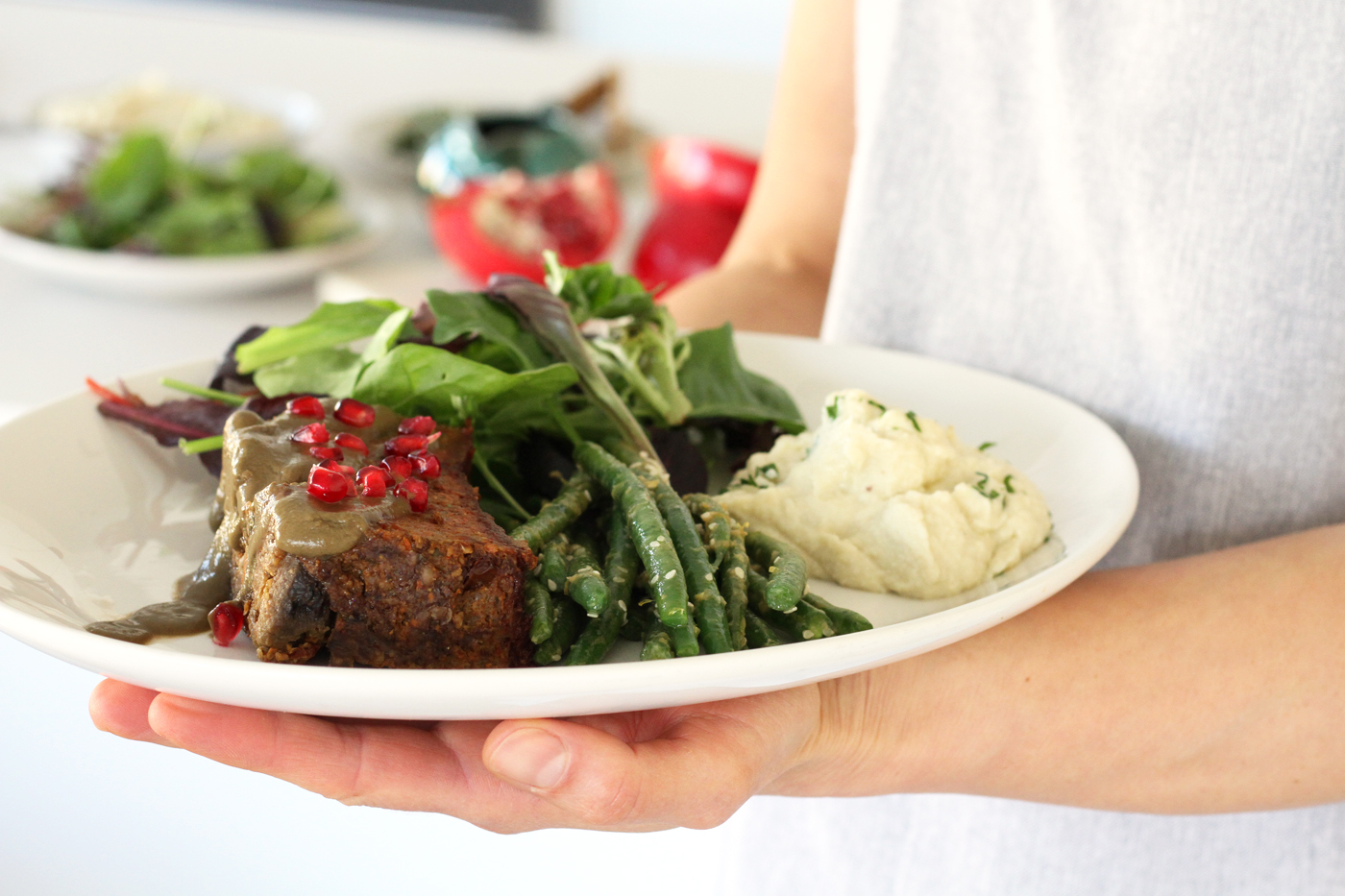 Holiday feast recipe made by Active Vegetarian