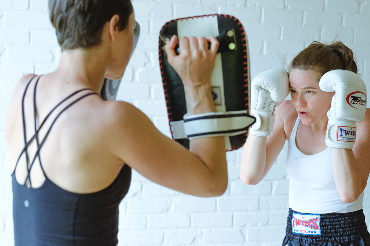 This is Nikki and Susanna boxing