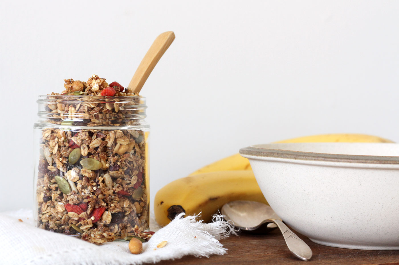 This is an easy Vegan oil free granola recipe