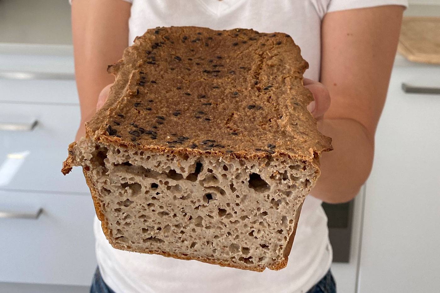 This buckwheat&quinoa bread is gluten free and yeast free